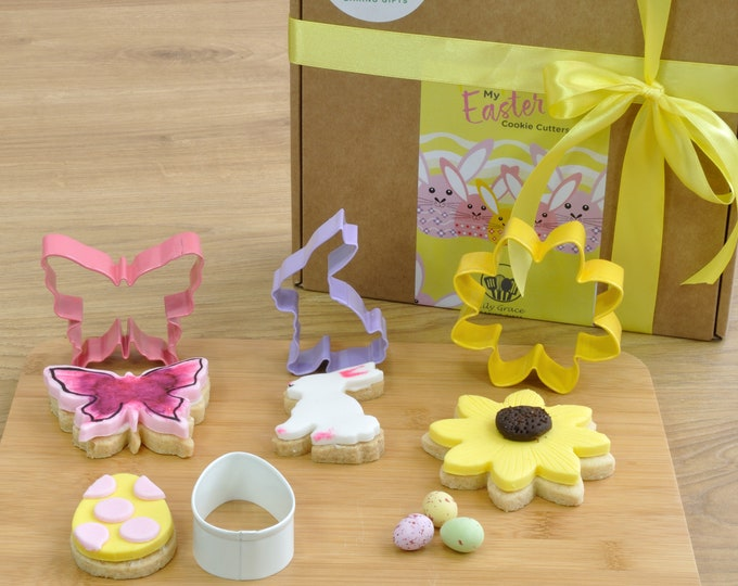 My Easter Cookie Cutters Gift Box - a pretty and practical Easter present for baking lovers