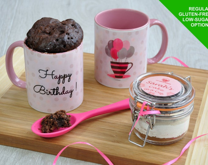 Pink birthday gift,  pink present, birthday nana, birthday grandma, sisters birthday, ladys birthday, birthday baking kit, cake in a cup,