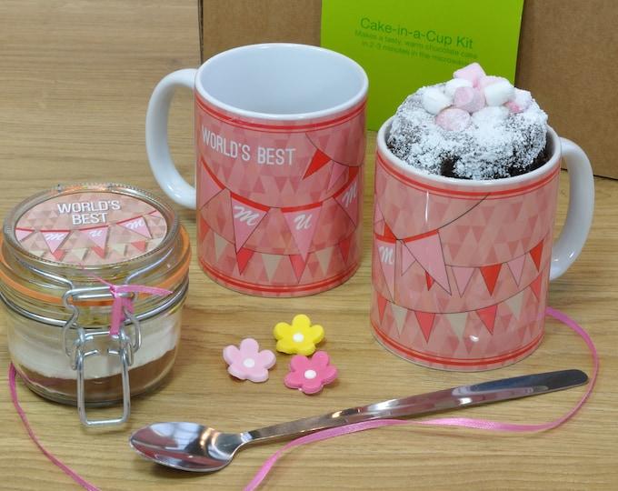 Mothers day gift, gluten free mum, low sugar, mum mug cake, mums birthday, special mum, mug for mum, best mum, personalised mum, baking mum