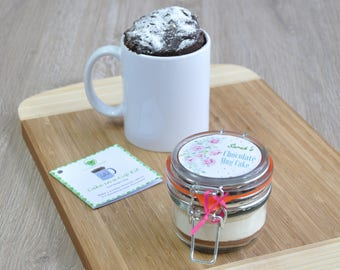 Personalized chocolate mug cake mix!