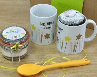 Personalised Happy Birthday Mug & Cake Gift Set