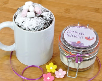 Mini mug cake jar for s special Mum!, Sweet treat for Mothers Day, Mums birthday present, Small gift for mum, Thankyou Mum gift, Mums treat