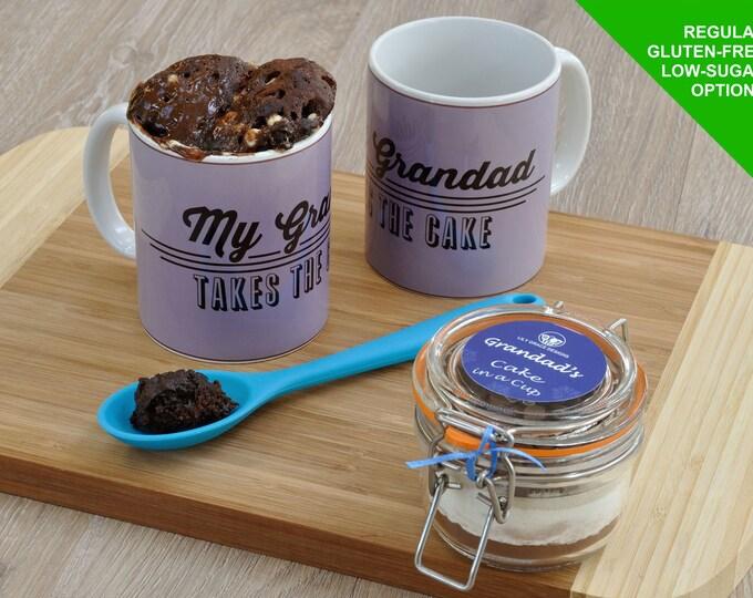 Present for grandad, Fathers Day, Grandad's birthday, grandads treat, mug cake kit, personalised grandad, special grandad, chocolate cake