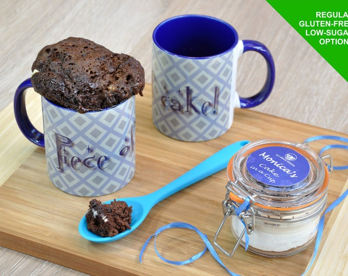 Chocolate Cake Lover's Treat Instant Cake in a Cup Kit to make in microwave/gift for her/gift for him/random urges for cake/sweet treat