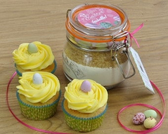 Personalised Easter Cupcakes Baking Kit  - makes a great kids Easter holiday activity