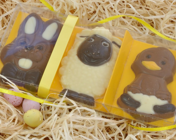 Easter Chocolate Friends - Set of 3 including Easter bunny, Easter lamb and Easter chick!