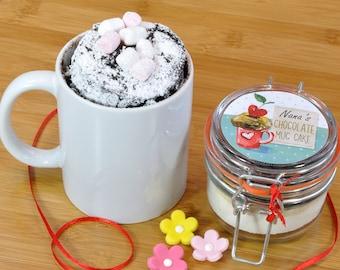 Cake to post, special treat, tasty treat, mug cake, sweet treat, little cake , treat him, treat her, small birthday gift, chocolate cake,