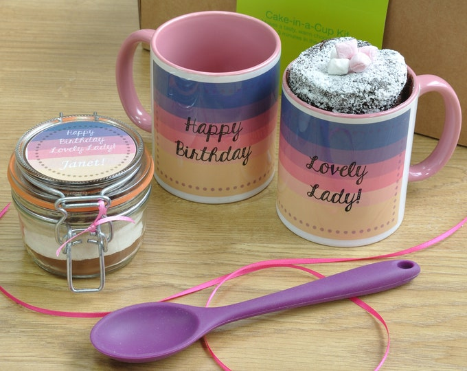 Birthday Mug Cake Gift Box for a Lovely Lady!