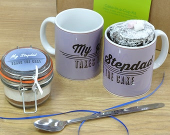 Stepdad's Chocolate Mug Cake Gift Set for Fathers Day or his Birthday!