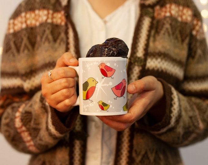 Unusual Xmas treat, Stocking filler, Xmas robins, Fun Xmas Gift, Personalised Xmas Mug Cake, Xmas chocolate lover, Sister Niece Xmas gift,