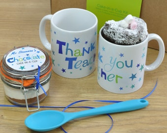 Thankyou Teacher Chocolate Mug Cake Gift Set!