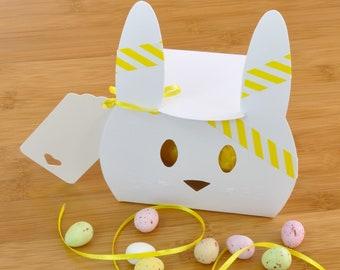 Easter Chocolate Treat - Cute Bunny Box with Mini Eggs