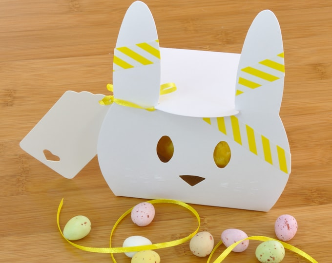 Easter Chocolate Treat - Cute Bunny Box with Mini Eggs