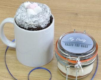 Daddy's/Grandad's/Stepdad's Personal Chocolate Cake in a Mug!