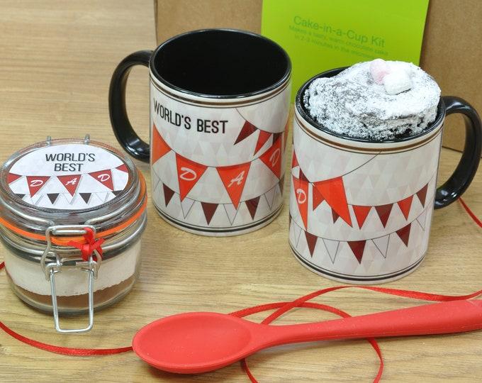Worlds Best Dad Chocolate Mug Cake Gift Set!