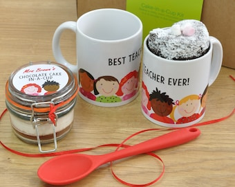 Best Teacher Ever! Chocolate Mug Cake Gift Set