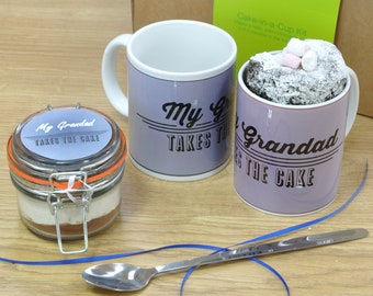My grandad takes the cake mug cake kit!