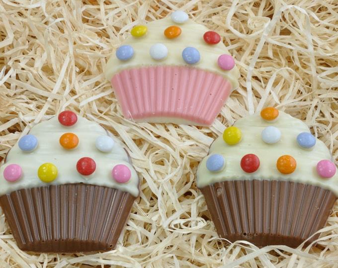 Handmade Chocolate Cupcakes - Boxed Set of Three