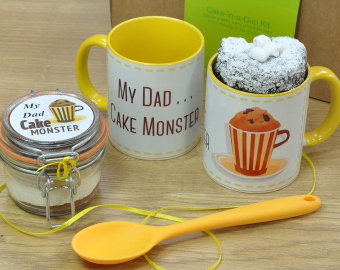 Fathers Day Treat for Dad - Personalised Chocolate Mug Cake Gift Set!