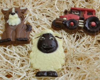 Handmade Chocolate Farm Yard Gift Pack