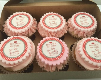 Customised Edible Cupcake Toppers with your Design - Sheet of 12