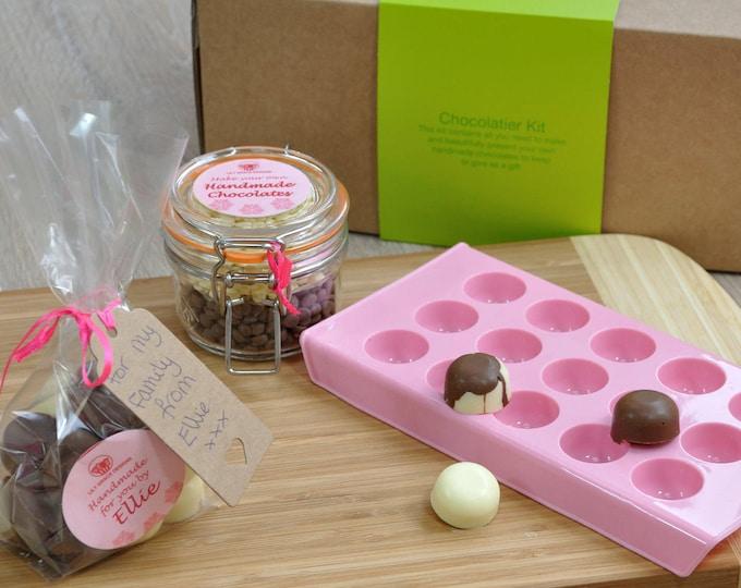 Personalized pink chocolate making mold kit!