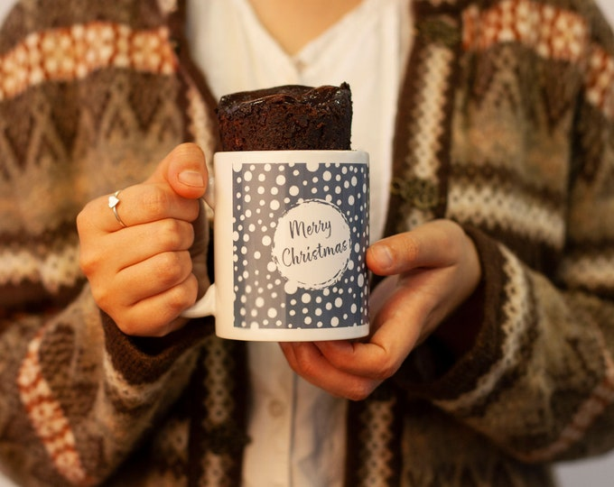 Merry Christmas mug, snowballs present mug, Christmas mug cake, Sweet Christmas gift, Sweet tooth present, Cake lovers gift, choc lover