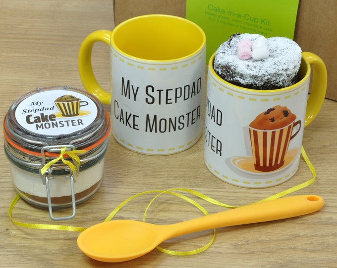 Stepdad's Fathers Day Cake in a Cup Gift Set!