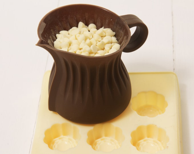 Reusable Silicone Chocolate Melting Jug to go with Chocolate Making Kits, chocolate molds, use in microwave, gift for chocolate lover