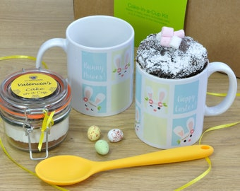 Bunny Power! Easter Chocolate Mug Cake Gift