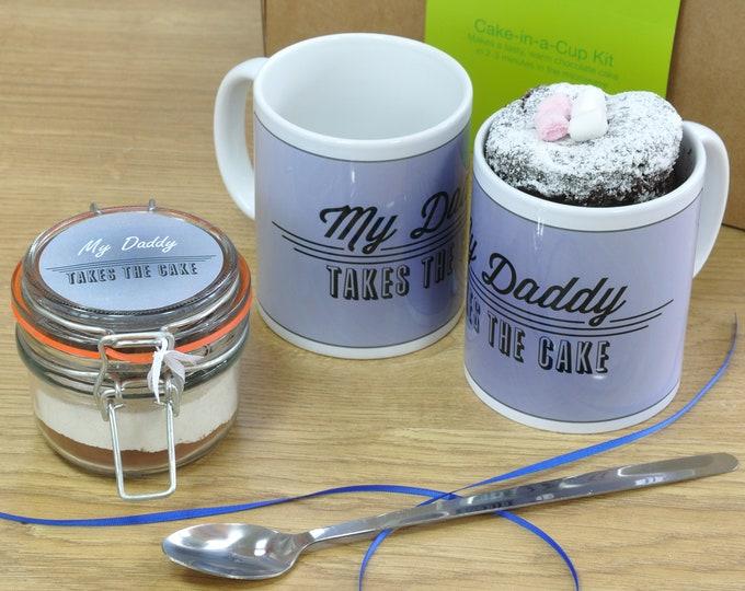 My daddy takes the cake mug cake gift!