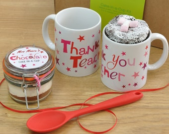 Thank you Teacher Chocolate Mug Cake Gift Set!