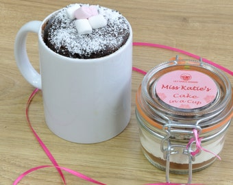 personalized cake in a cup!
