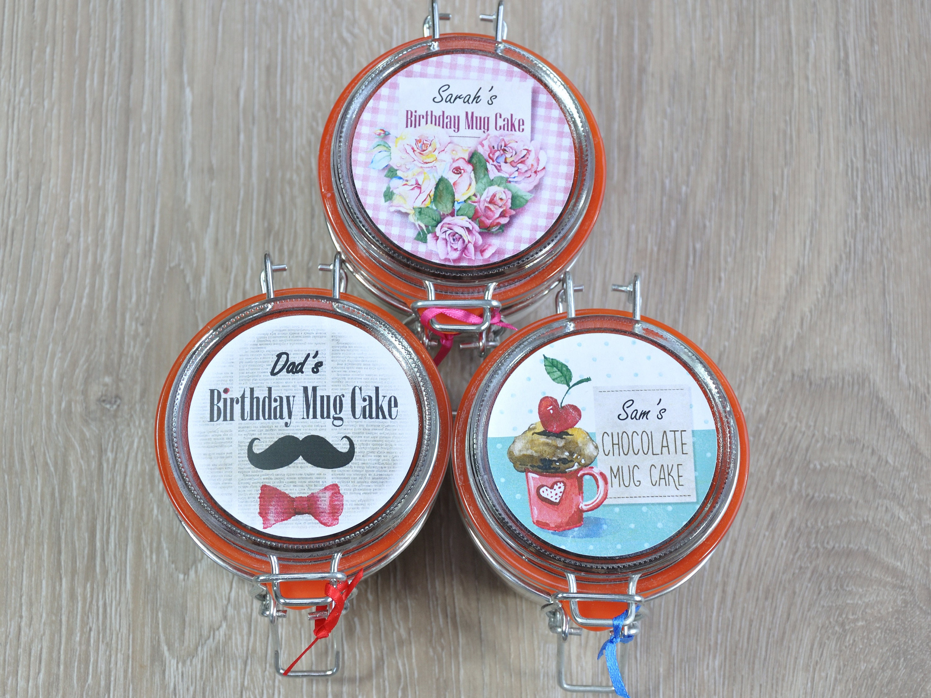 3 Jar Variety Pack Cakes To Send By Post Instant Cake Small Birthday