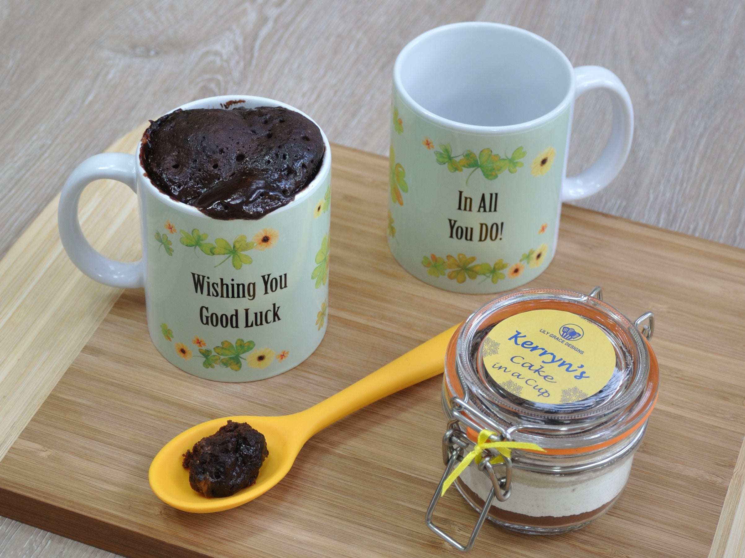 Good Luck Mug Gift Personalised Mug Cake Kit Wish You Luck