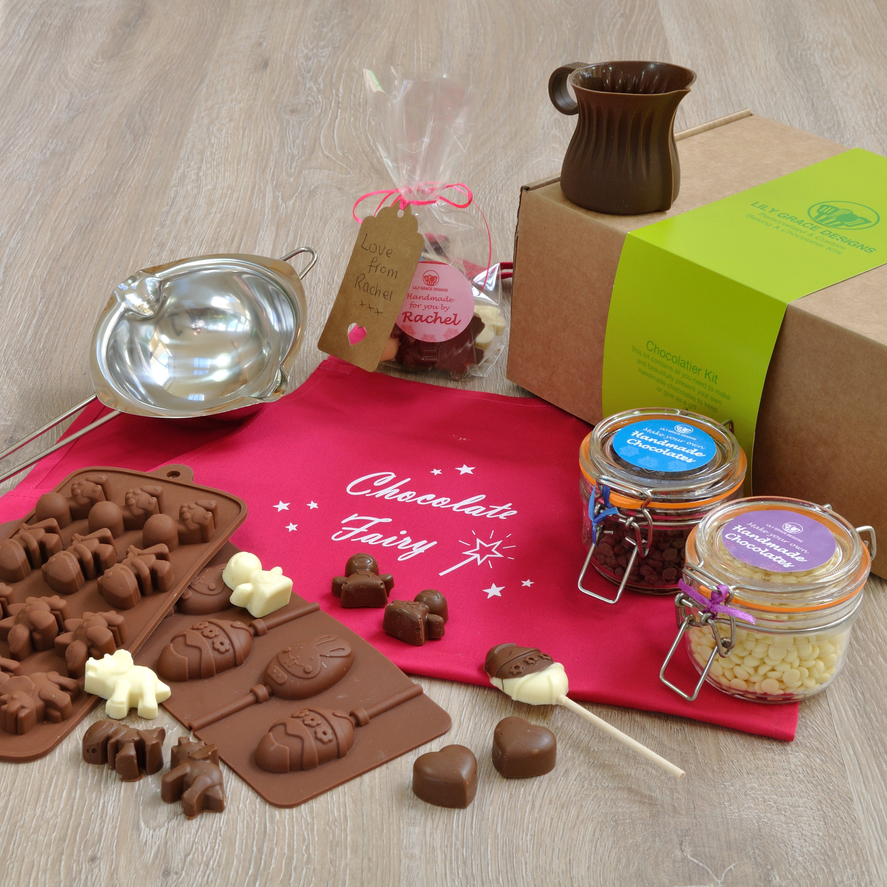 Original gift of chocolates with your own hands