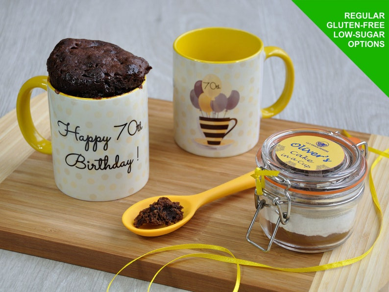 70th Birthday Cake And Mug Gift Set