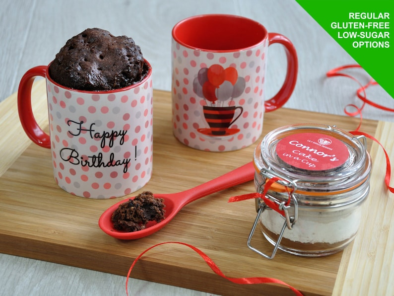 VEGAN Cake Gift Baking Kit Happy Birthday Mug Cake Kit