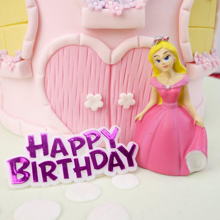 Free Uk Shipping Princess Happy Birthday Cake Topper Pink Princess