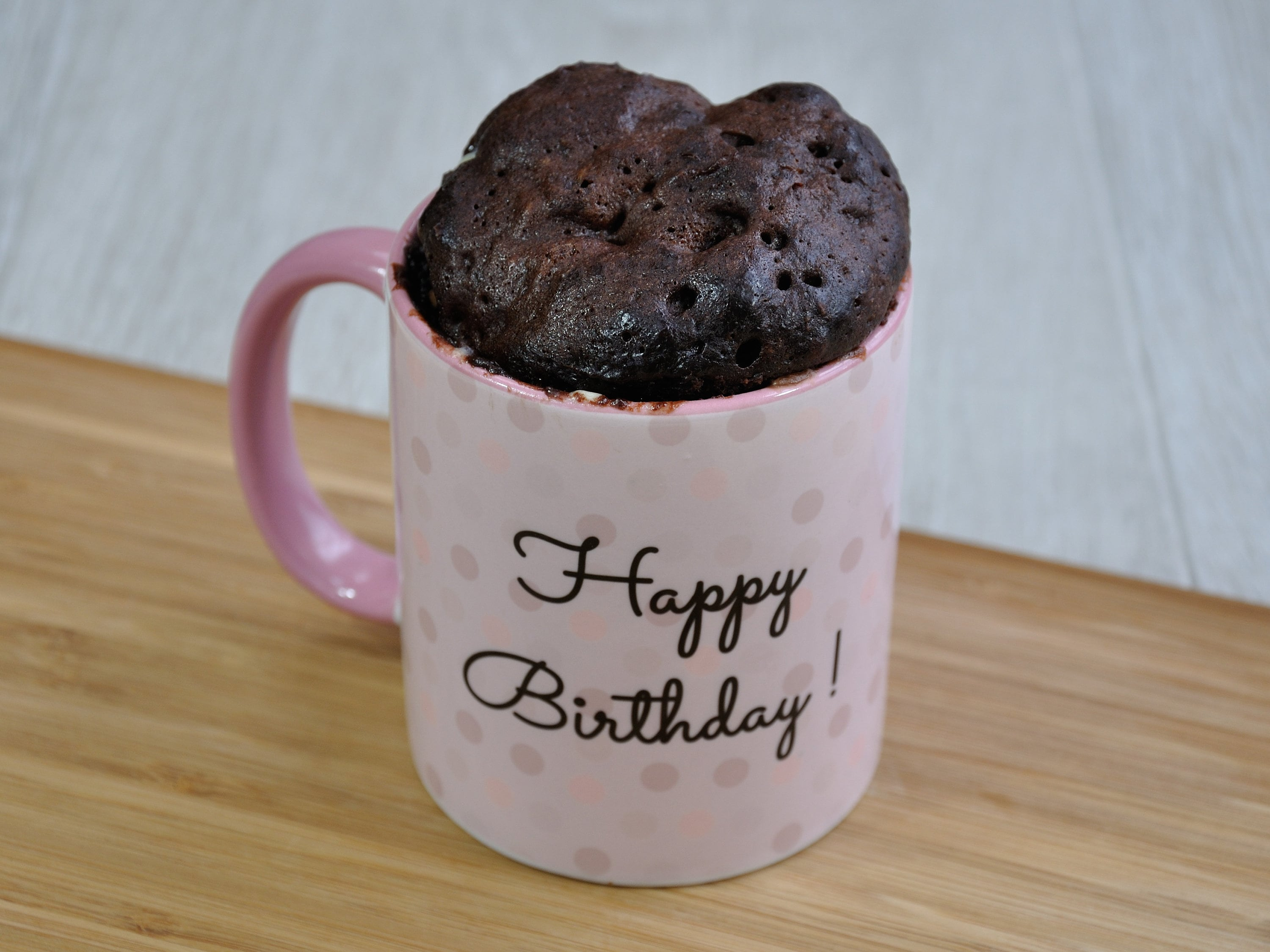 VEGAN Cake Gift Baking Kit Happy Birthday Mug For Him Her Microwave Chocoholic