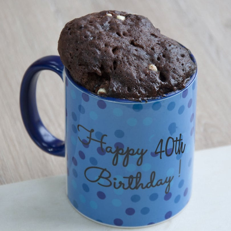 40th Birthday Gift Mug Cake Friends His Brothers Dads Baking