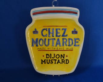 Dijon Mustard wall plaque or spoon rest