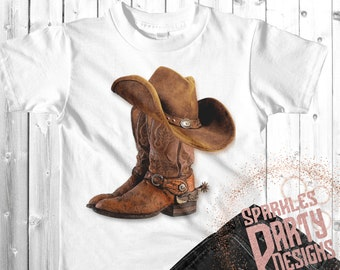 422e06fb Cowboy boots and hat sublimation design download, sublimate, png, men,  digital design, printable