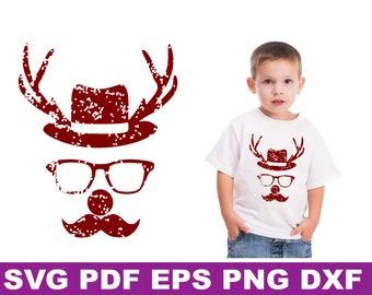 Hipster Deer Svg Etsy