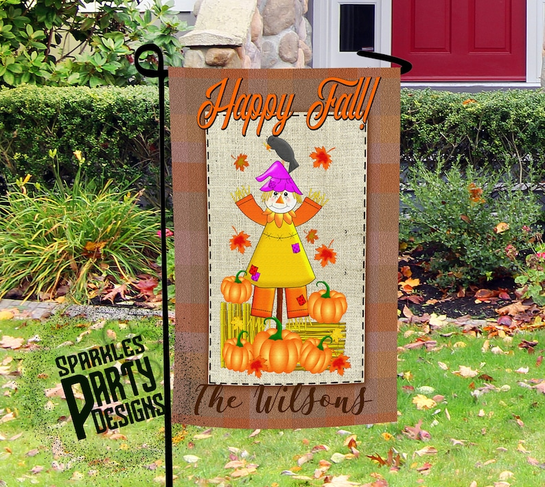 Fall Garden Flag Designs Graphic for Sublimation Printing image 0