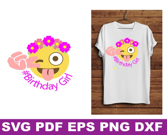 Emoji Birthday Svg Birthday Emoji Svgemoji Svg Birthday Etsy