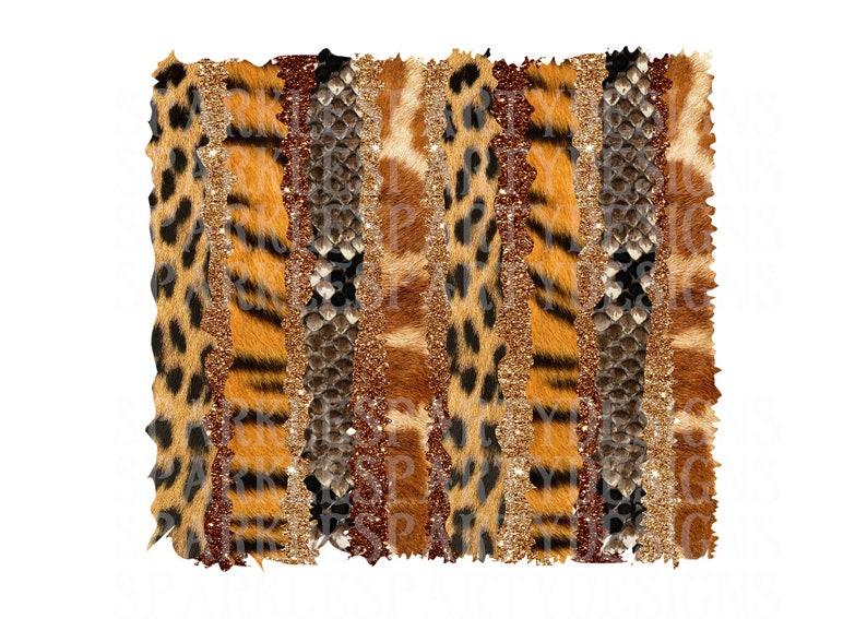 Brush Strokes Fur Leopard Glitter Stripes Background image 0