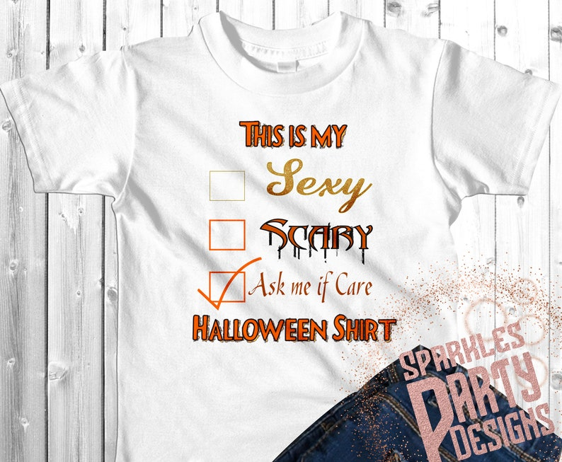 Scary Sexy Halloween Costume T Shirt Sublimation Graphics image 0