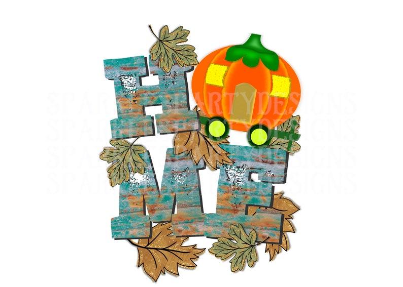 Fall Pumpkin Camper Home Sublimation Graphics Designs image 0