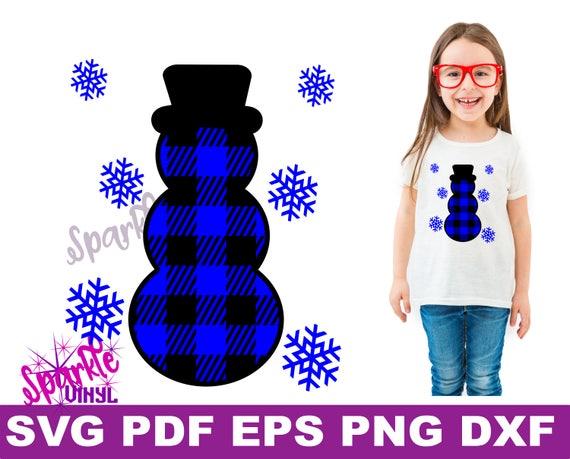 SVG Noël bonhomme enfant enfant en bas âge chemise tenue plaid bonhomme de neige des flocons de neige neige enfant enfant en bas âge ADO coupe fichiers svg pour cricut ou silhouette,